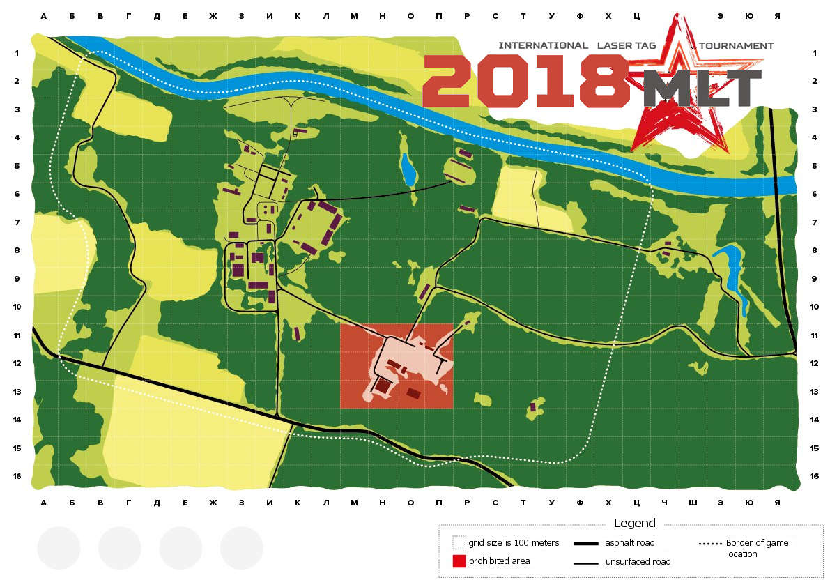 Laser tag scenario game map (mlt2018)