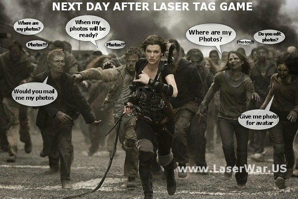 Next Day after Laser Tag Game