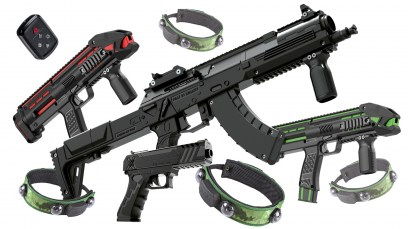 Laser tag home package for family use