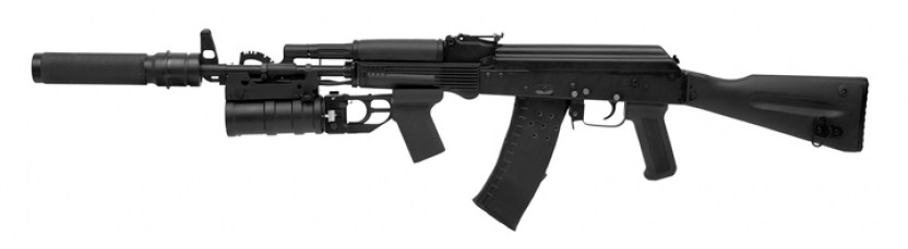 AK-105 with laser tag under-barrel grenade launcher