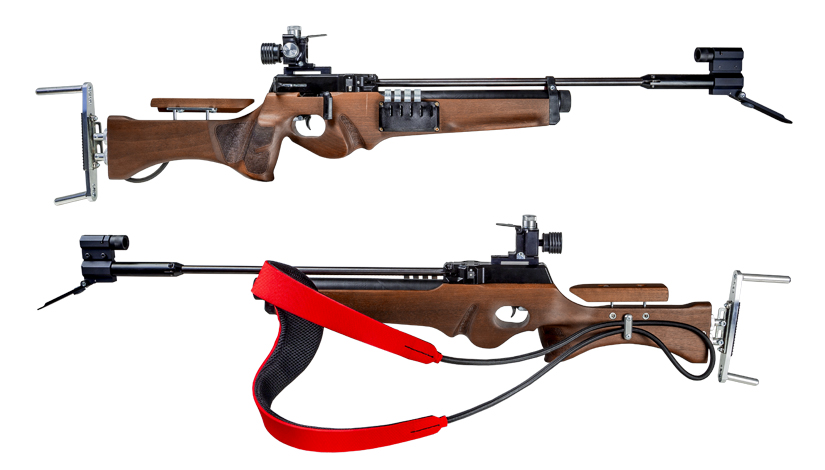 two biatlon rifles for laser tag